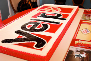 "A ""10 Years of Yelp"" Cake"