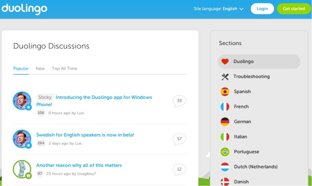 Duolingo discussion forum CMX community case study