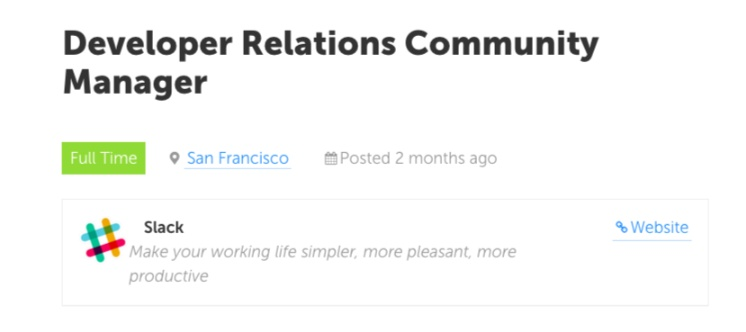 Slack Developer Community Manager