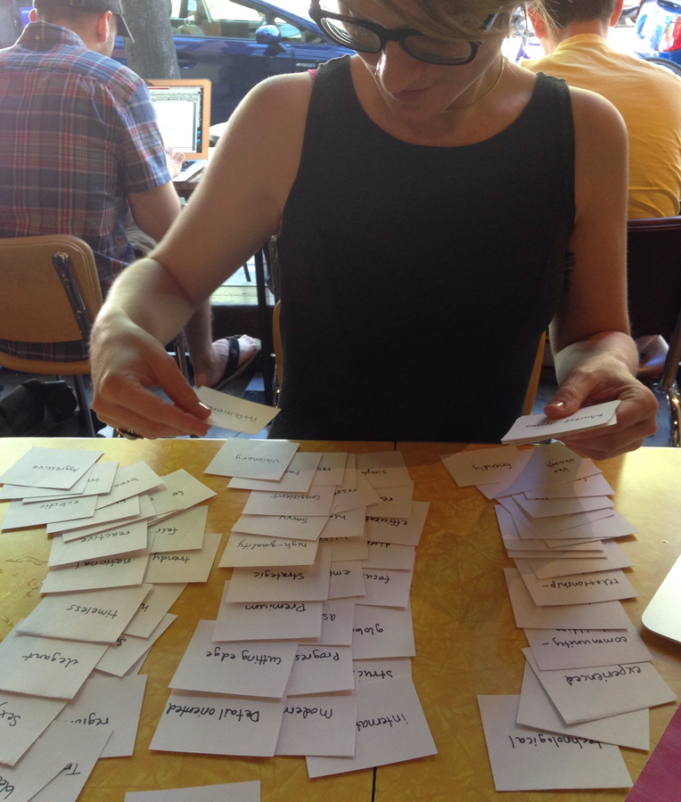 Carrie Melissa Jones Doing CMX Cardsorting