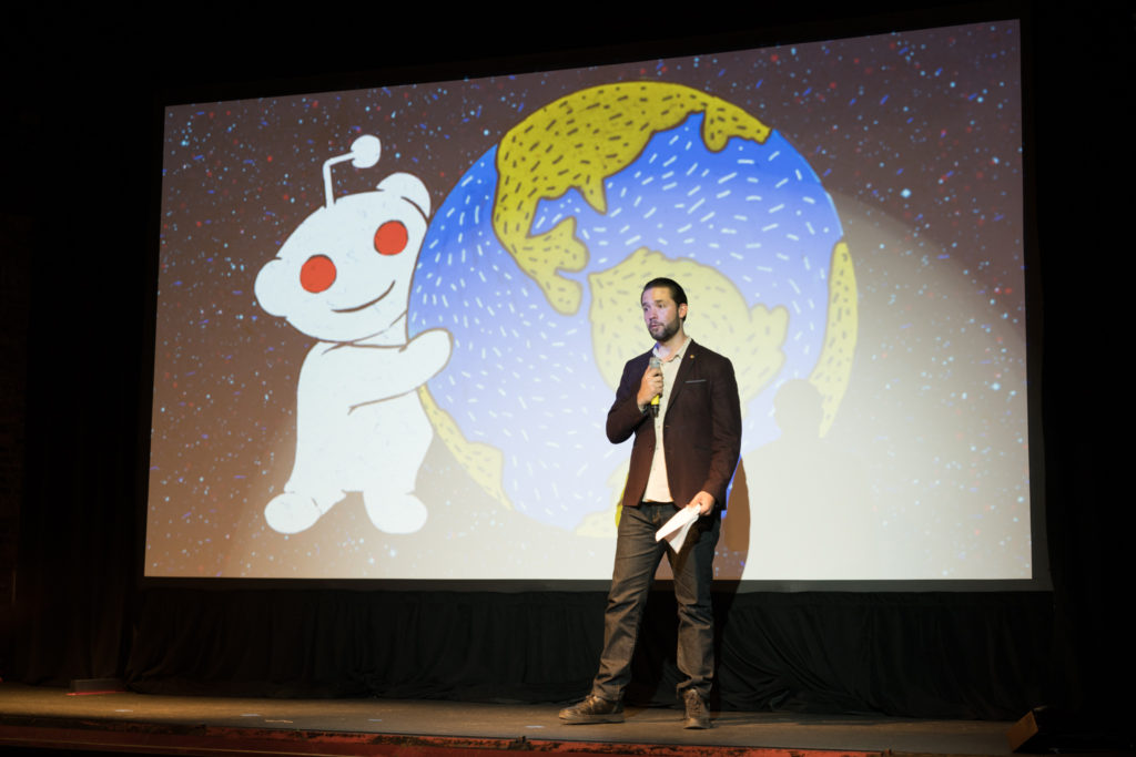 Alexis Ohanian on stage at CMX Summit East 2016